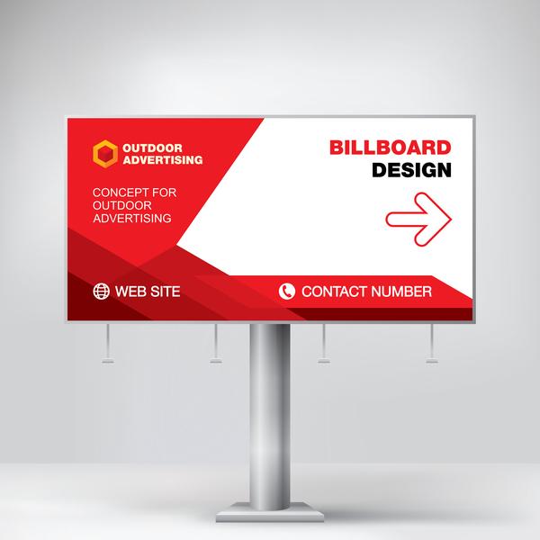 、広告、看板、屋外、赤
