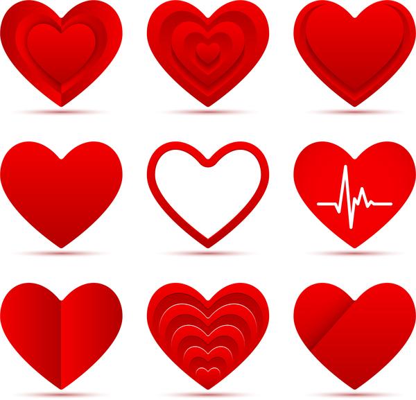 rouge Papier le cœur