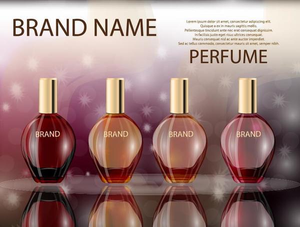 rot poster parfum Glas Flasche