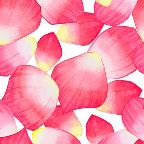 seamless red petal pattern
