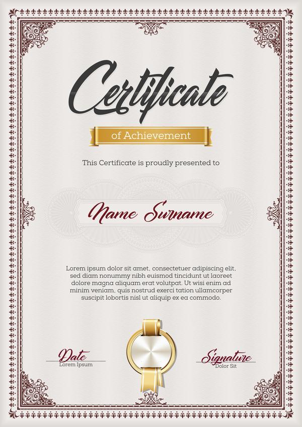 Zertifikat rot