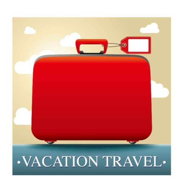 vacation travel suitcase red