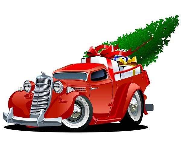 rouge Noel camion cadeau