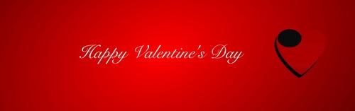 San Valentino rosso giorno cuore banner