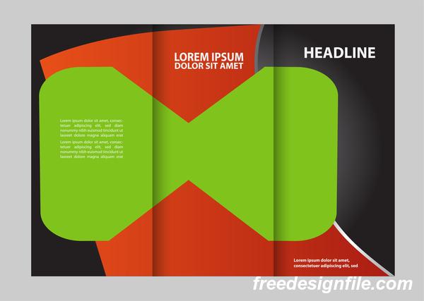 Schwarz rot grün fur flyer cover Broschüre