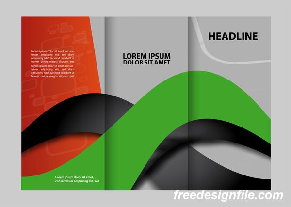 vert rouge pour noir flyer couvrir brochure