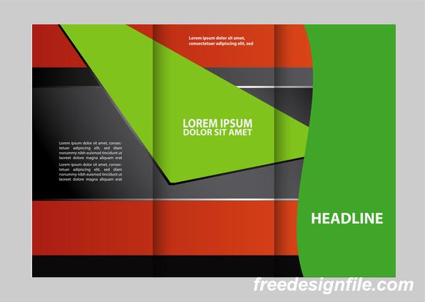 赤 緑 用 ブラック パンフレット チラシ カバー