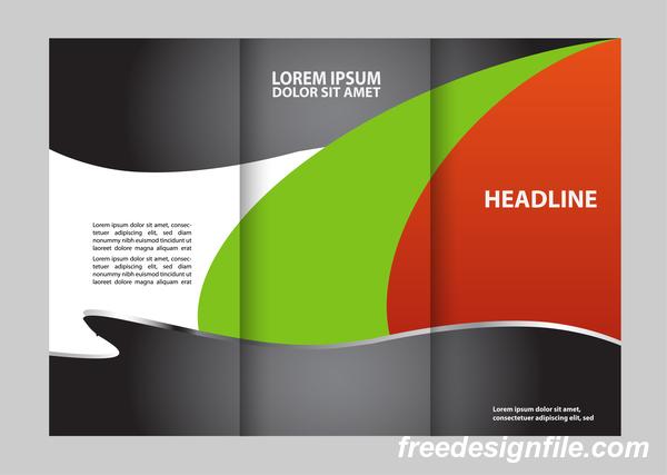 täcka Svart rod grön for flyer broschyr