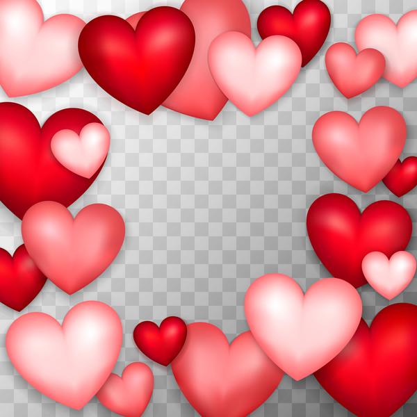rot Rosa Rahmen Herzen form