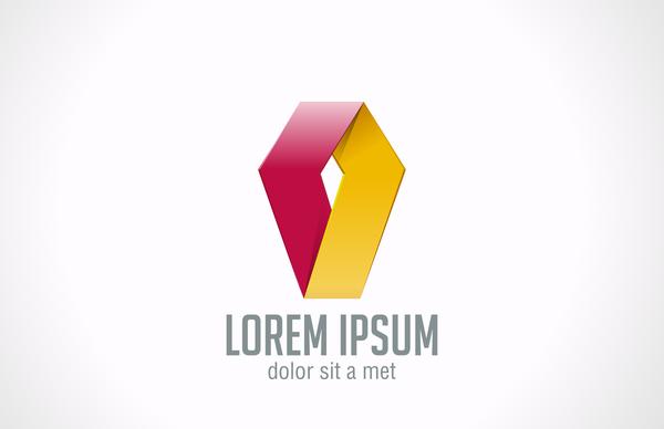 rouge moderne logo jaune