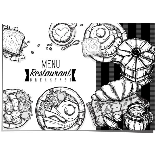 restaurant petit déjeuner modèle menu
