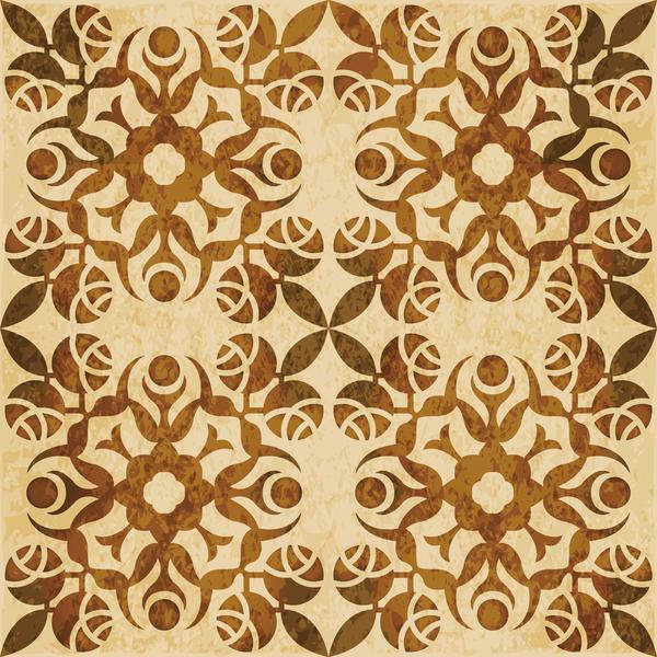 sans soudure modèle rétro polices kaleidoscope floral