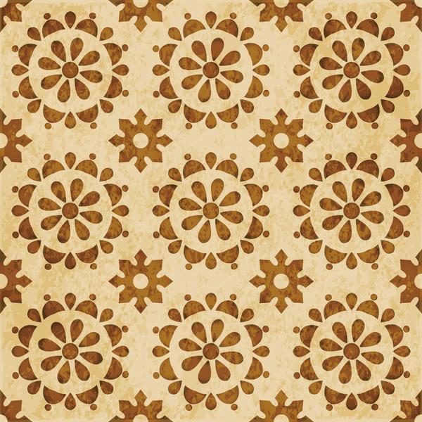 senza soluzione di continuità pattern font retrò floral Caleidoscopio
