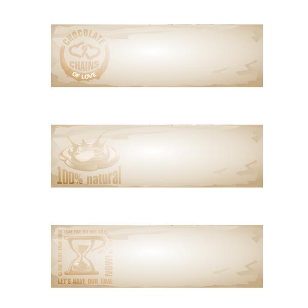 polices rétro Papier des bannières chocolat