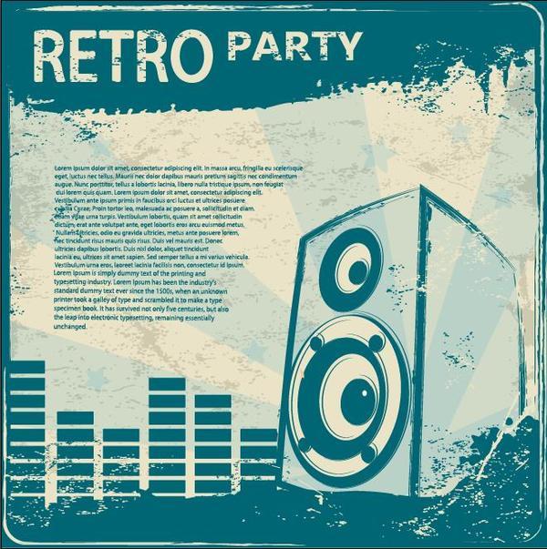 teplate Retro-Schriftart party flyer