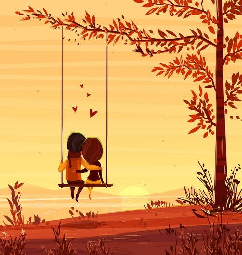San Valentino romantico giorno cuore coppia