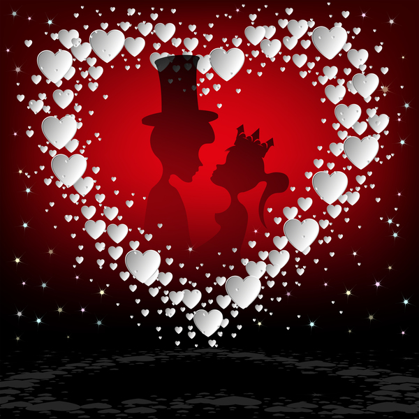 、カード、日、愛好家、、ロマンチックなバレンタイン