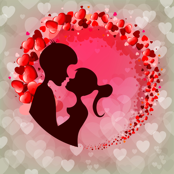 San Valentino romantico gli amanti giorno carta
