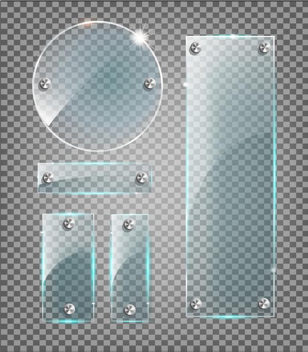 rotondo rettangolare in vetro banner