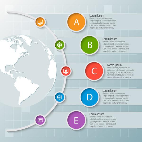 runda knappen infographic earth