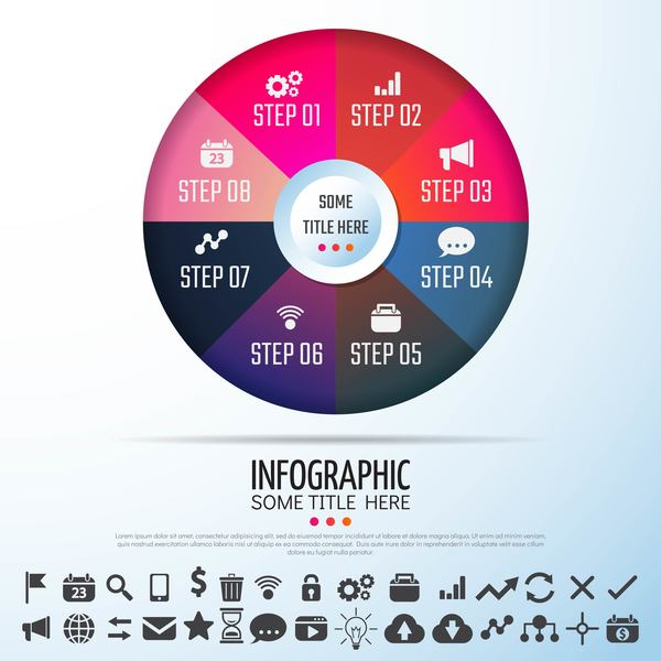 rond infographie icônes Entreprise