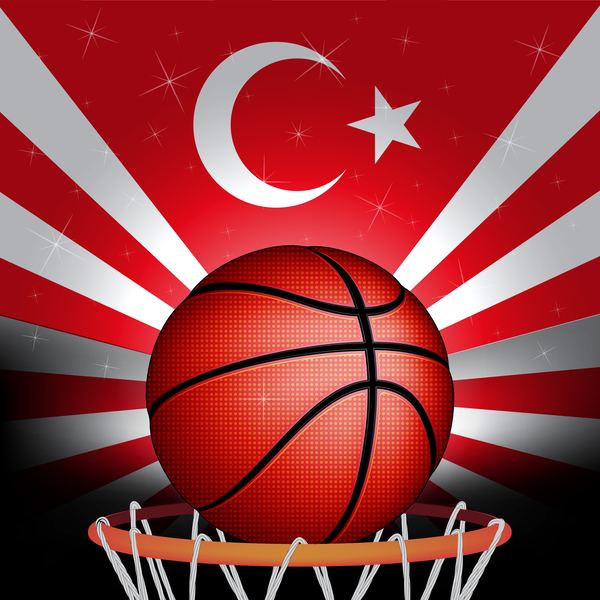Rurkish flagga basket
