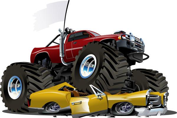 tecknad suv monster bilar