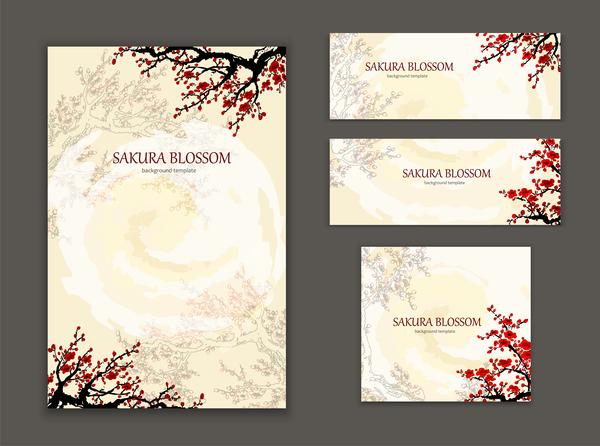 styles sakura cover brochure banner