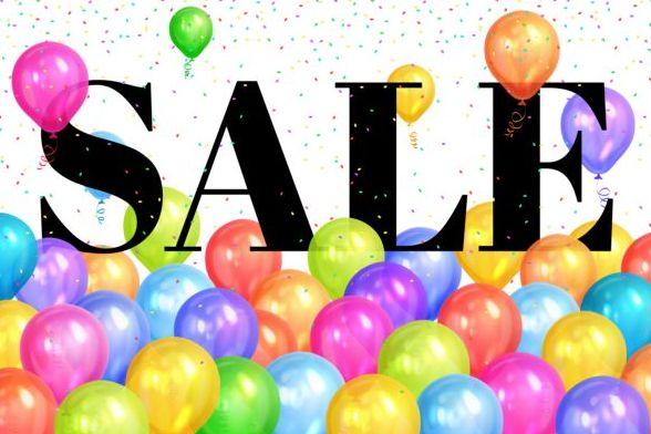 Verkauf bunt ballons