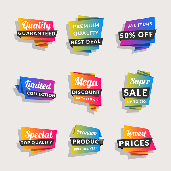 Taggar shopping origami försäljning banners