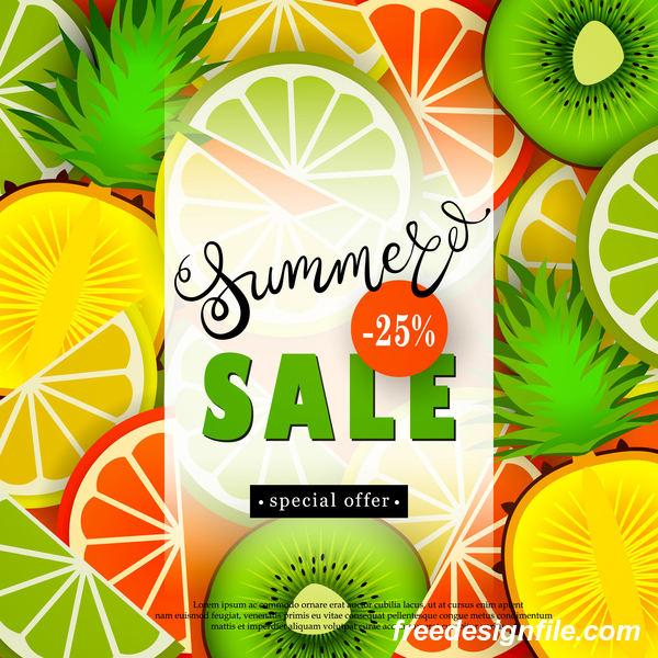 summer sale poster fruit discounts advertisemen