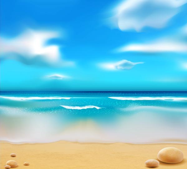 青 空 砂 夏 ビーチ