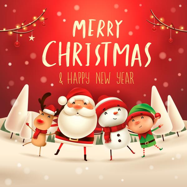 友人 サンタ クリスマス カード