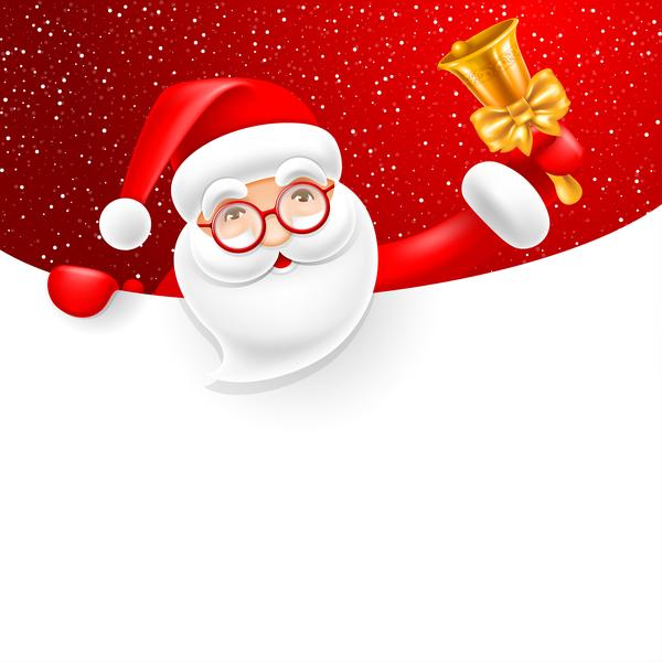 空白 サンタ クリスマス 、ベル