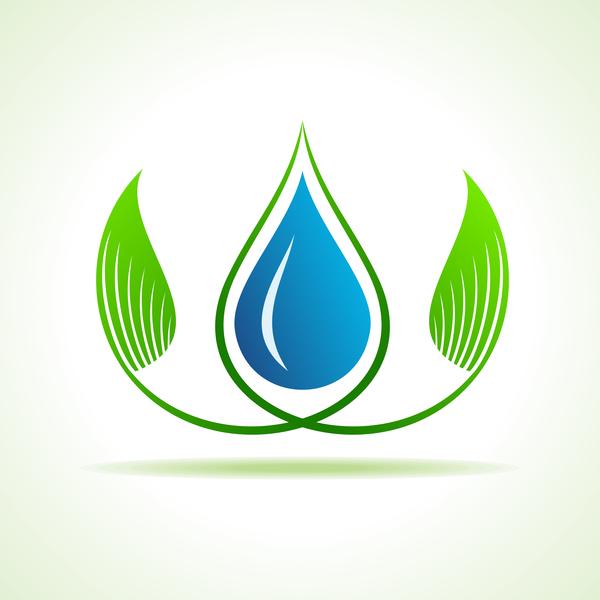 vatten spåra logotyp eco design