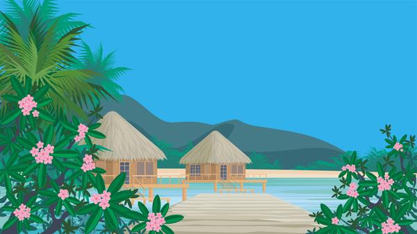 palmiers mer bungalows