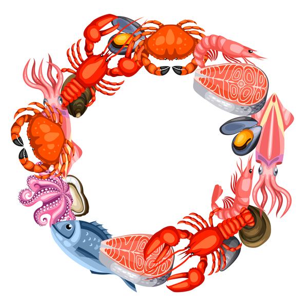 Rahmen Meeresfrüchte