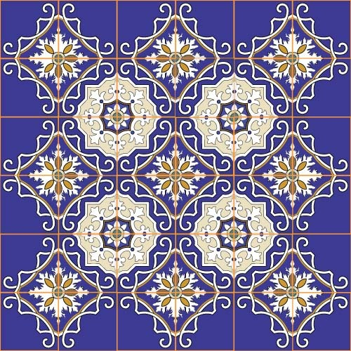 sans soudure motif decorative classique