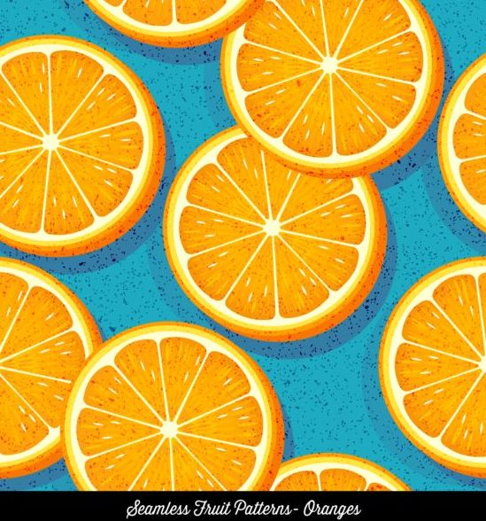 パターン シームレスな オレンジ