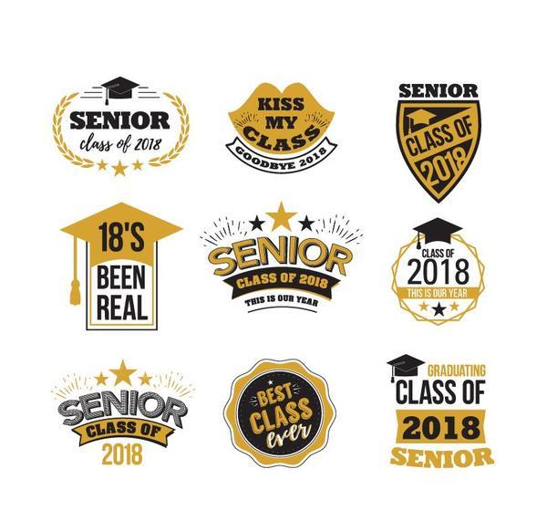 senior etichette classe 2018