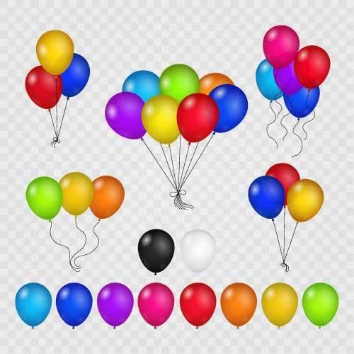 färgade ballong