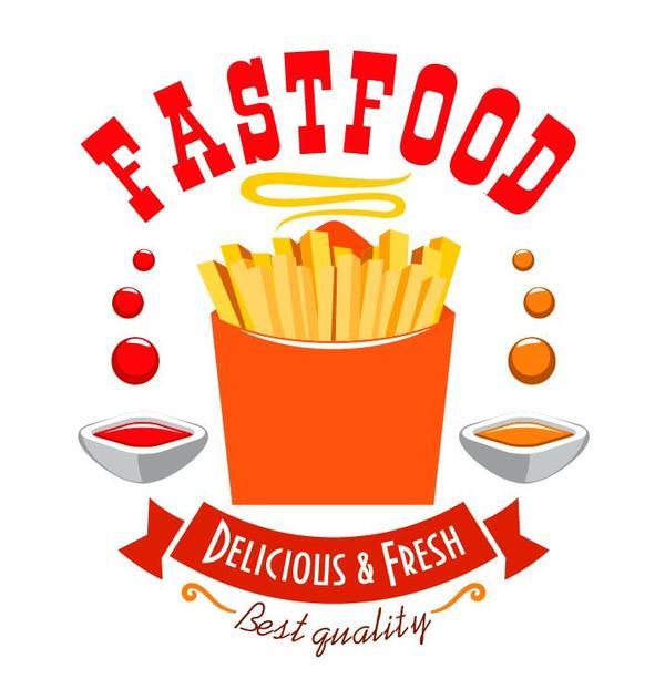 food fast Etiketten