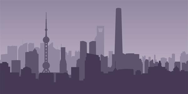 Stad skyline Shanghai