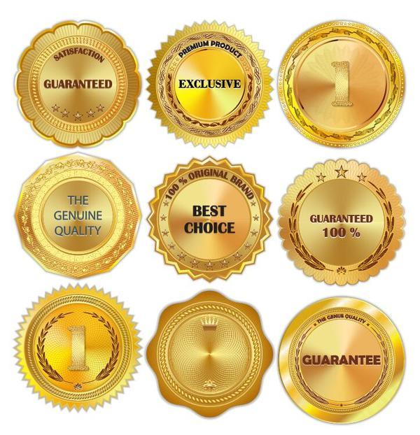 golden brillant badge