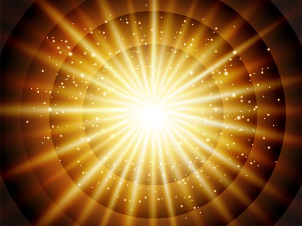 luce cerchio brillante astratto