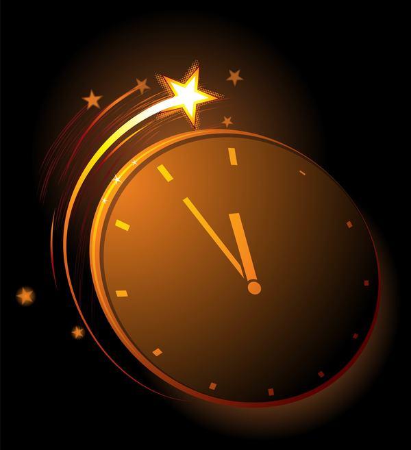 Uhr Sterne leuchten