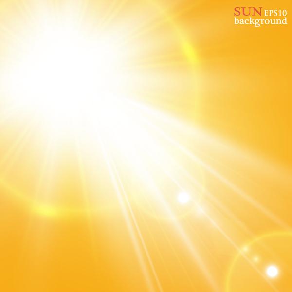 solljus glänsande