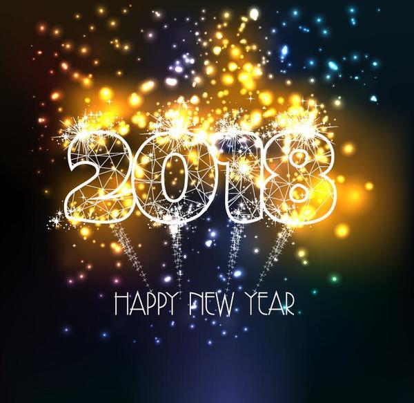 shiny new Jahr Feuerwerk 2018