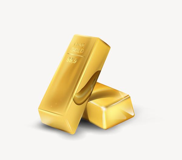 guld glänsande bar
