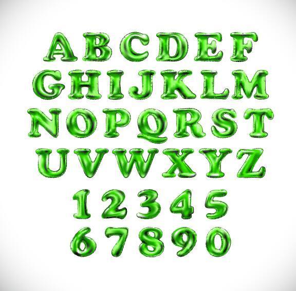verde numero lucido Alfabeto